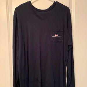 Vineyard Vines Long Sleeve Whale Pocket T-Shirt